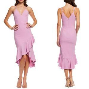 Dress the Population Wendy High/Low Ruffle Dress